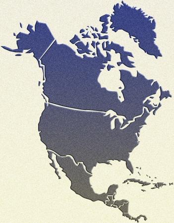 North America map photo