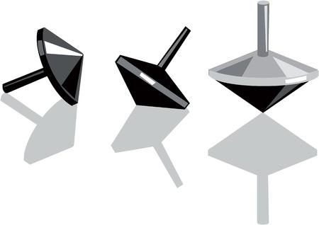 chanukah: Spinning tops