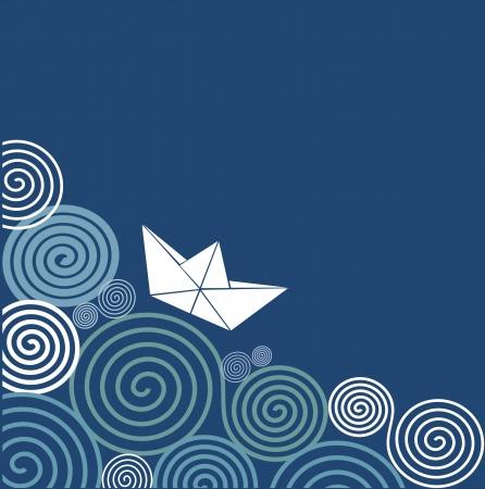 Sailing paper boat