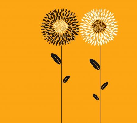 sunflower field: Abstract flowers