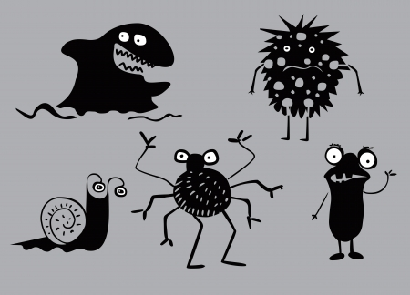 Collection of funny monsters Vector