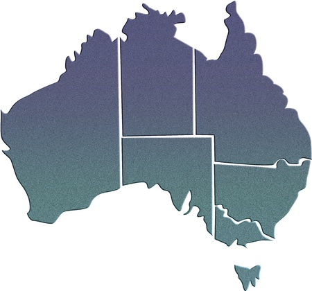 wales: Australia map