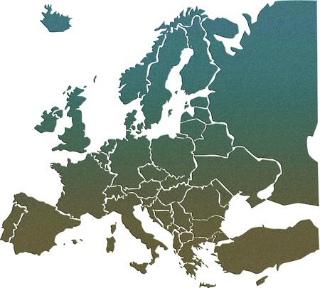 Mapa de Europa Foto de archivo - 21735043