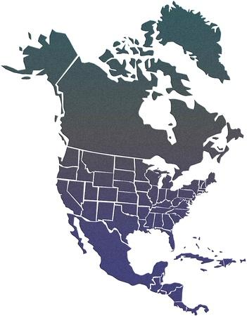 north america map: North America map