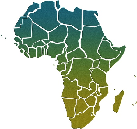 Africa map photo