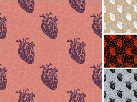 Human heart seamless pattern  Stock Vector - 21735215