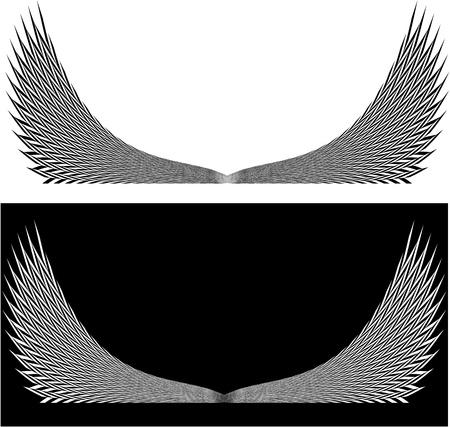 Stylized angel wings  Stock Vector - 21735210
