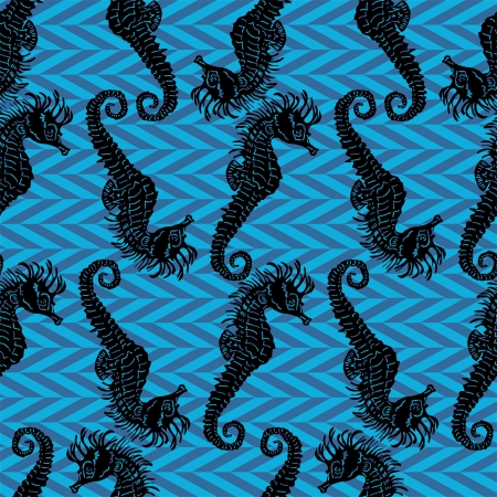 Seamless vector pattern with seahorses Stock Vector - 21735221