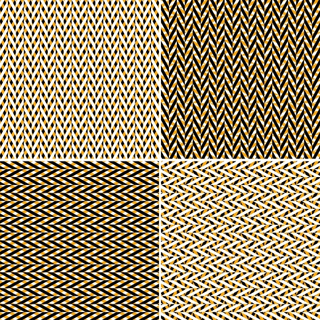 herringbone background: Set of seamless chevron patterns
