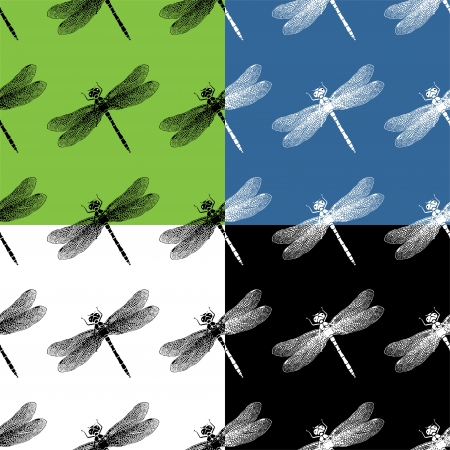 Dragonflies seamless pattern Stock Vector - 22698394