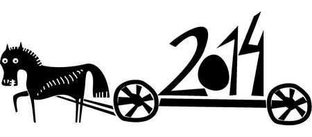 Year of horse 2014 Ilustração