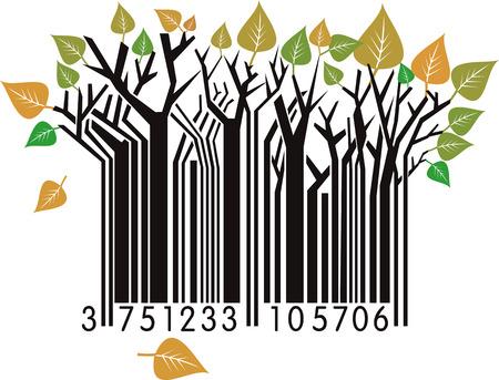 scanning: Autumn Bar Code  Illustration