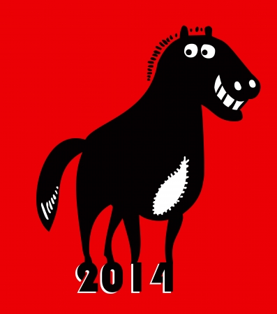 Year of horse 2014  Vector