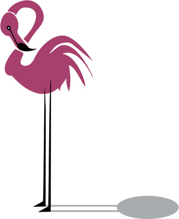 Funny pink flamingo  Vector