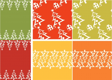 Christmas tree pattern set Vector
