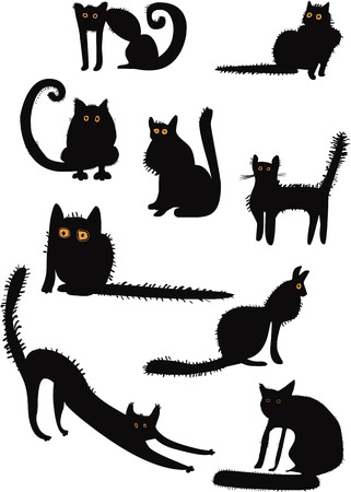 Funny black cats collection