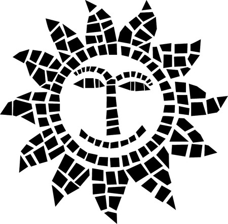 Sun mosaic icon  Vector