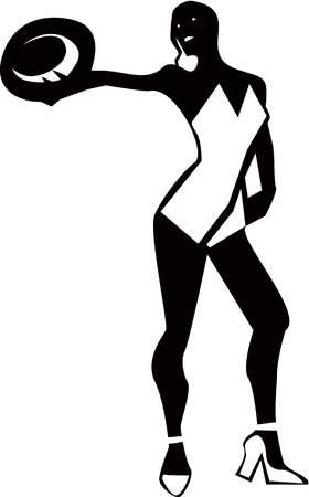 Cabaret dancer  Vector