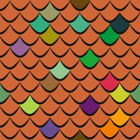 weatherproof: Roof tiles seamless pattern Illustration
