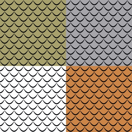 Fish scales seamless pattern Vector
