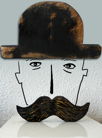 Man with mustache and hat photo