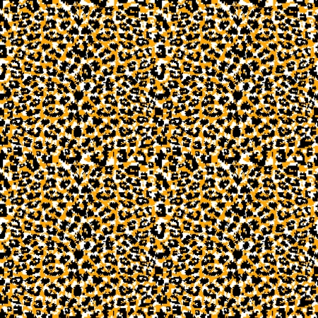 Seamless abstract animal fur pattern  Vector