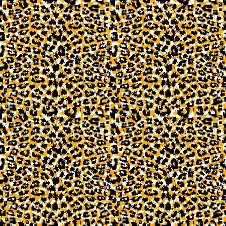 Seamless abstract animal fur pattern  Vector