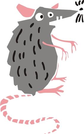 Funny rat  Vector