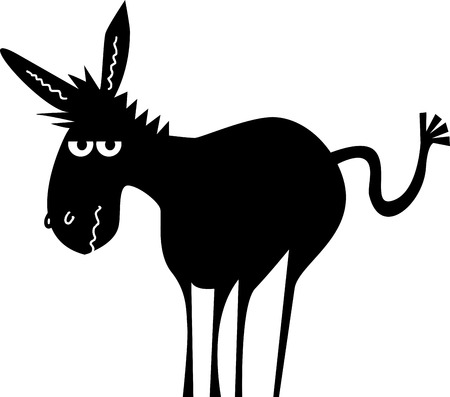 Cartoon donkey Vettoriali