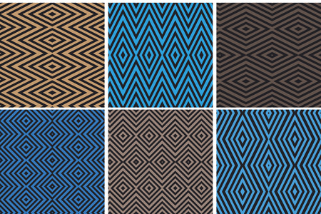 brawn: Set of seamless geometric patterns Illustration