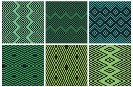 Set von nahtlosen geometrischen Mustern Vektorgrafik