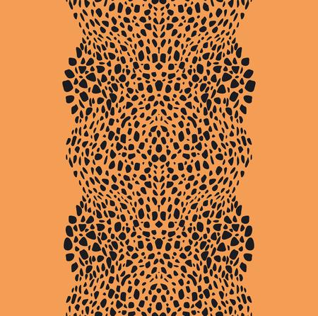 타는 사람: 벡터 동물 모피 수직 원활한 패턴 일러스트
