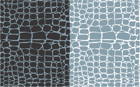 Set of reptile skin seamless patterns Imagens - 27317565