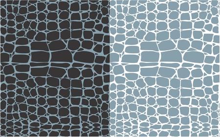 Set van reptiel huid naadloze patronen