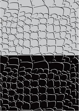 crocodile skin leather: Set of reptile skin seamless patterns