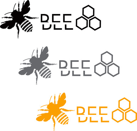 Set of stylized bee icons Vector
