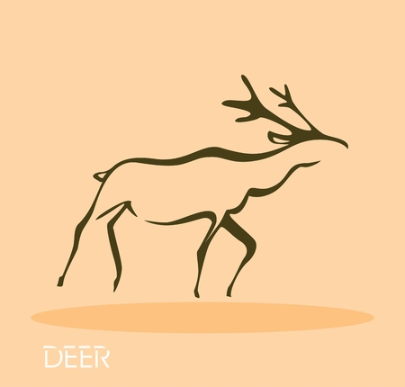 Deer - vector illustration  Vector