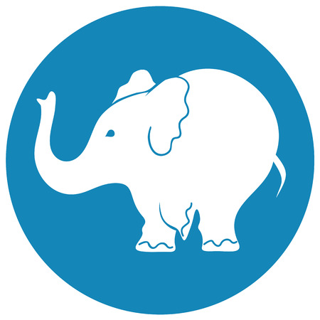 circus elephant: Elephant sign - vector illustration