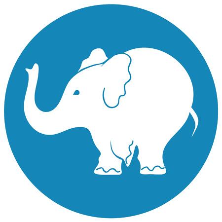 Elephant sign - vector illustration  Vector