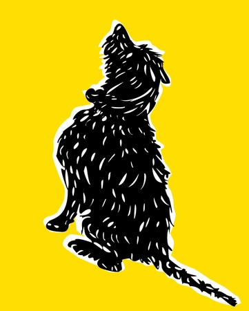 dog leash: Dog illustration