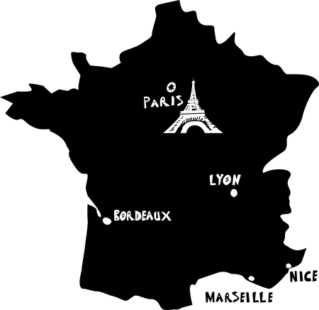 France, vector map  Vector