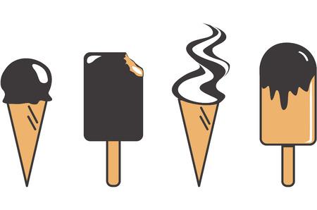 symbole: Ice cream set Illustration