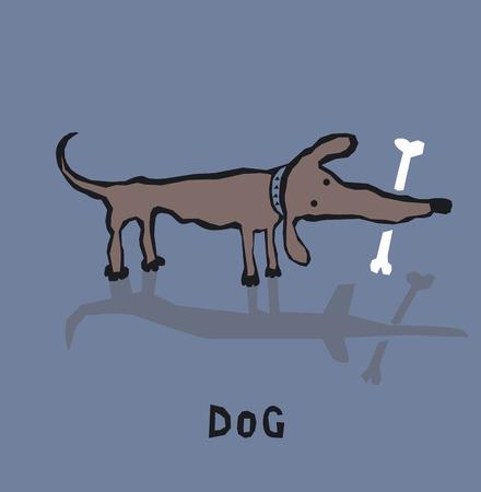 Funny cartoon dog Ilustração