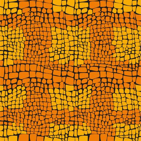 Reptile skin seamless vector pattern  Ilustração