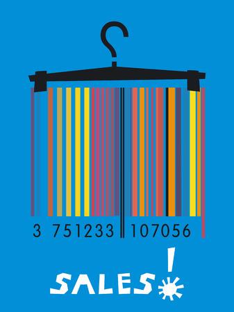 Summer sales barcode image  Vector