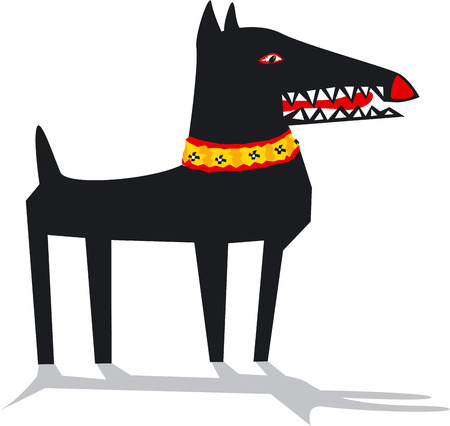 Black dog, vector illustration Vector