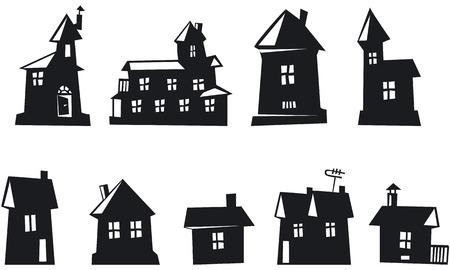 tv unit: Set of House Icons