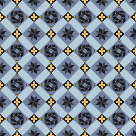 Seamless ceramic tiles pattern  Vector