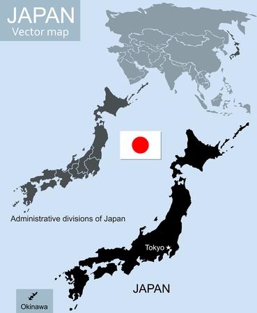 Japan vector map Vector