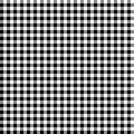 シームレスな黒と白の市松模様のテーブル クロス パターン  イラスト・ベクター素材